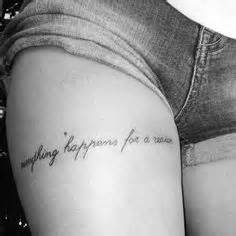 thigh quote tattoos ideas  pinterest