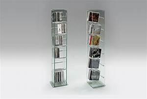 Range Cd Colonne : tour en verre pour cd ou dvd ~ Teatrodelosmanantiales.com Idées de Décoration