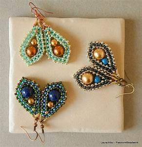 Solace Earrings Pattern    Cubic Right Angle Weave Earrings