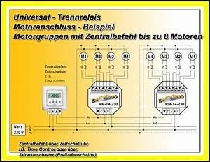 Elektrische Rolladen Motor : 2x up trennrelais zentral steuerung rolladen antrieb ~ Michelbontemps.com Haus und Dekorationen