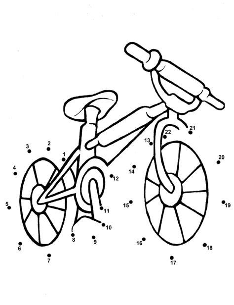 giochi gratis per bambini piccoli da colorare unisci i puntini per bambini piccoli la bicicletta