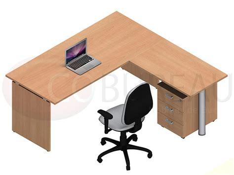 bureau kamos plateau droit avec retour