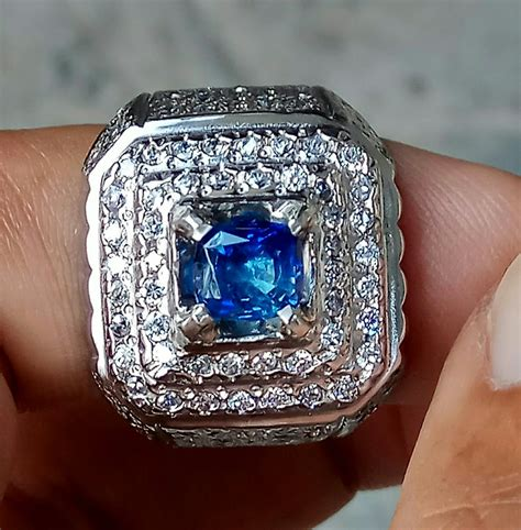 jual natural blue sapphire safir srilanka ceylon di lapak