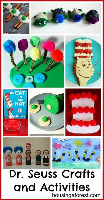 Seuss Dr Crafts Activities Birthday Week Craft