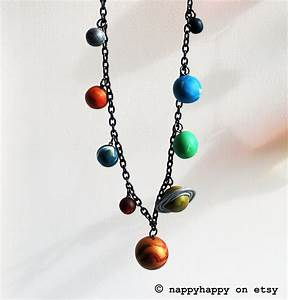 Solar System Necklace by nappyhappy on Etsy