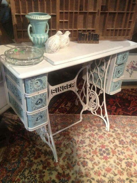 sewing machine desk ideas 49 best images about reciclado de base de maquinas de