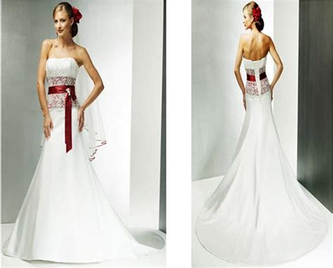 Best Red And White Wedding Dresses With Bridal Gowns Of
