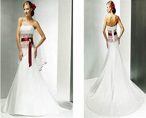 Best Red And White Wedding Dresses With Bridal Gowns Of ...