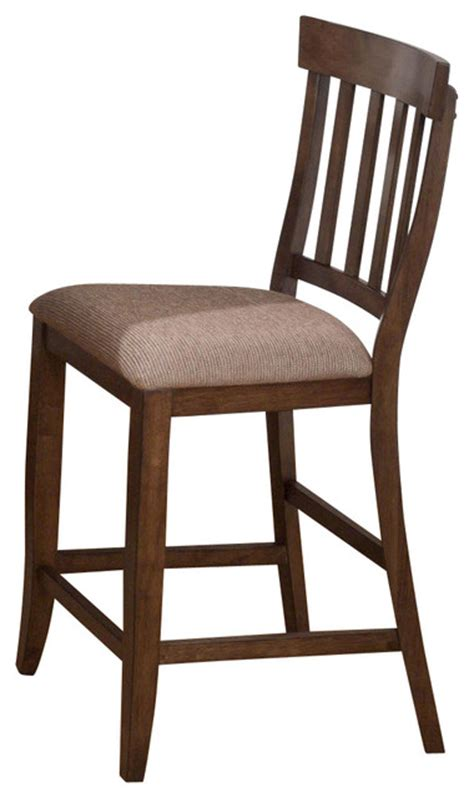 Jofran Tucson Brown 42 Inch Counter Height Stool With Slat