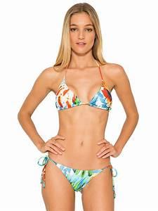Triangle Bikini With Removable Foam Padding, Colourful ...