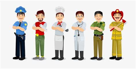 Occupation People, People Clipart, Cartoon Career Figures