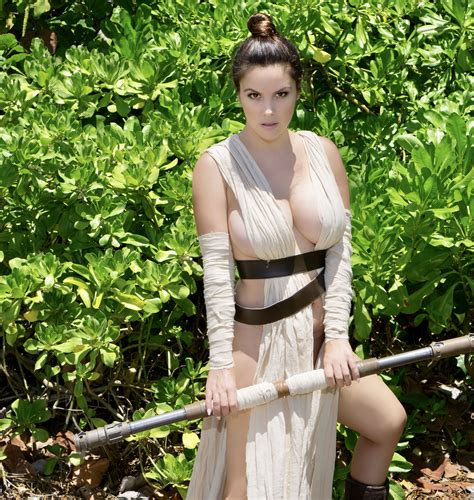 danny cozplay as rey in forest cosplay hot sex