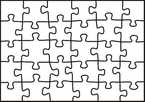 Puzzle Template -students Create A Piece To Be All Joined