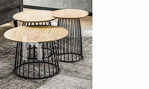 Table Basse Bois Moderne : table basse gigogne moderne couleur bois clair angus ~ Melissatoandfro.com Idées de Décoration