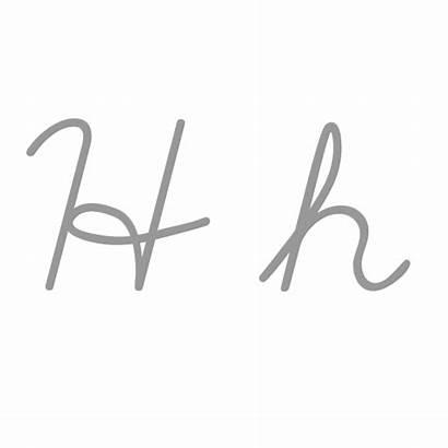 Letter Cursive Cursiva Letters Write Wikipedia Writing