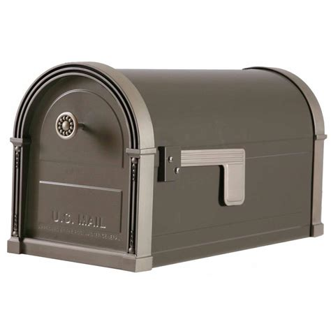 gibraltar mailboxes high grove post mount mailbox  light
