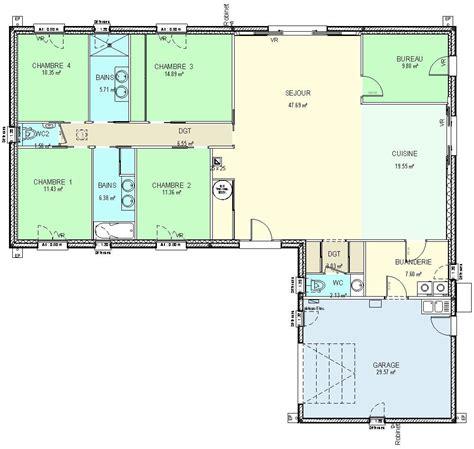 construction 86 fr gt plan maison plain pied de type 6 224 revoir planos