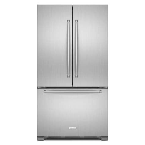 counter depth refrigerator dimensions kitchenaid shop kitchenaid 20 cu ft 3 door counter depth door
