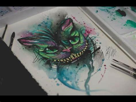 cheshire cat watercolor tattoo  dener silva youtube