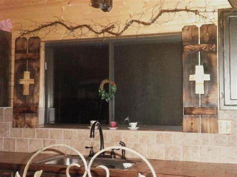 Primitive Rustic Garden Decor Photograph Window Shutters