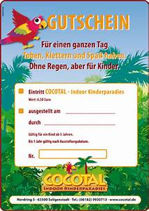 One De Gutschein : gutscheine eintrittskarten cocotal indoor spielparadies ~ Watch28wear.com Haus und Dekorationen