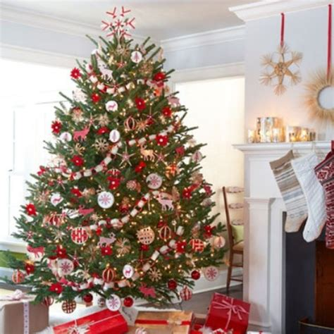 christmas trees decorated with red ribbon spode christmas