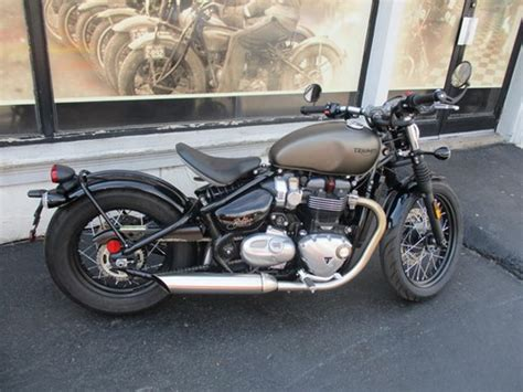 Triumph Boats For Sale In Ontario by Triumph Bonneville Bobber Ironstone 2017 Used Motorcycle