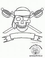 Coloring Skull Cross Bone Popular sketch template