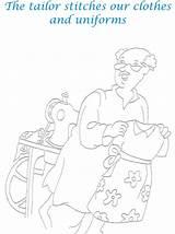 Tailor Coloring Printable Pdf Helpers sketch template
