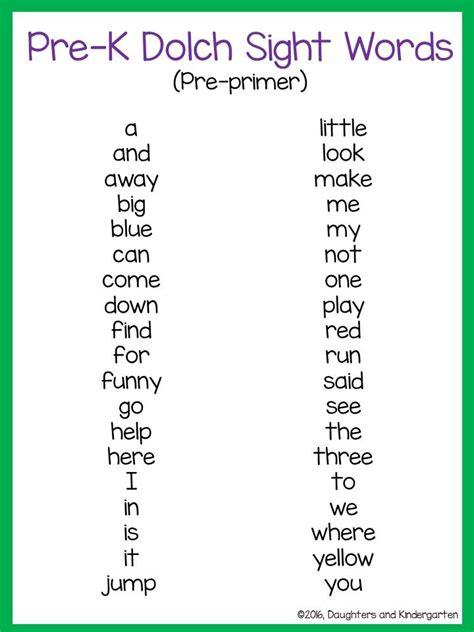 best 25 kindergarten sight words list ideas on pinterest