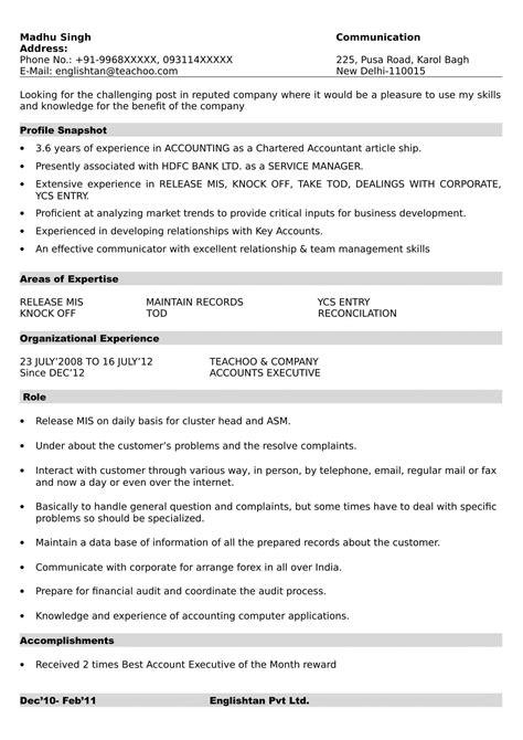 resume formats making resume