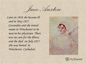 "Презентация на тему: ""Jane Austen ( ). Jane Austen Jane ..."