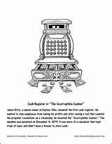 Coloring Hockey Register Cash Mask Invented Printables Worksheets sketch template