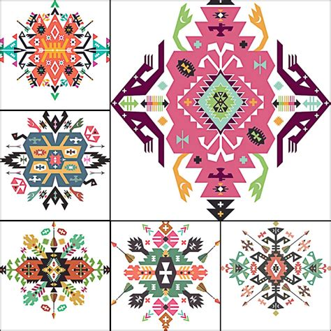 ethnic ornament indian vector