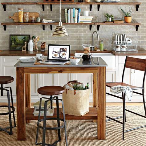 portable kitchen island with bar stools adjustable industrial stool west elm australia