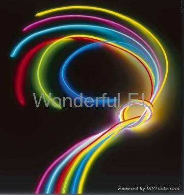 11 Colors El Flashing Glow Neon Fiber Optic Wire Welf