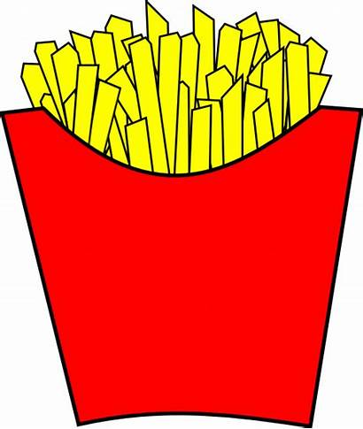 Fries French Clipart Cliparts Clip Modern Chips