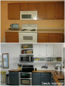 diy kitchen makeover ideas farmhouse kitchen on a budget the reveal domestic imperfection