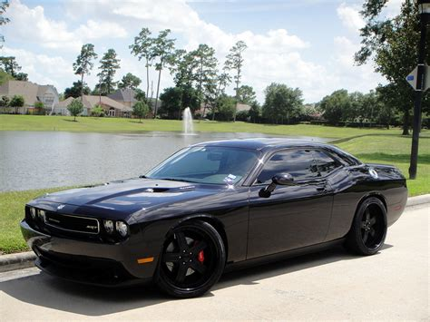 Black Dodge Challenger by Blacked Out Dodge Challenger Srt8