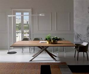 Tisch Ausziehbar Holz : ozzio 4x4 eckiger esstisch zum ausziehen mit holzplatte ~ Frokenaadalensverden.com Haus und Dekorationen