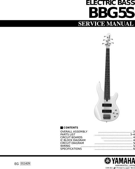 Yamaha Guitar Bbgs Users Manual Electric Bass