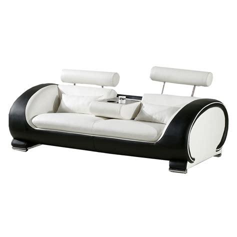 Sofa Couch Designsofa Mit Ablagetisch + GetrÄnkehalter
