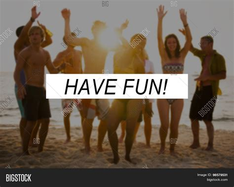 Have Fun Summer Friendship Beach Vacation Concept Stock