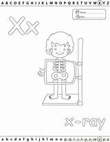 Coloring Xray Pages Printable Ray Letter Edu Alphabets Template Coloringpages101 Books Educational Education Radiology Xxray sketch template