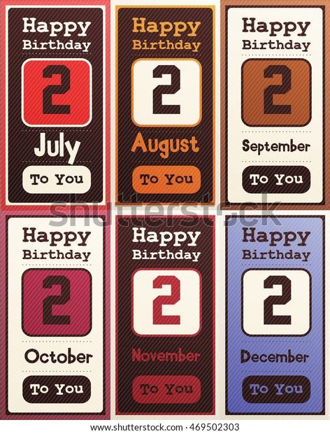 greeting happy birthday card date  stock vector