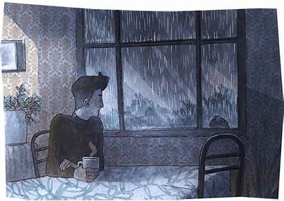 Illustration Rain Pixel Perfect Window Cool Lonequixote