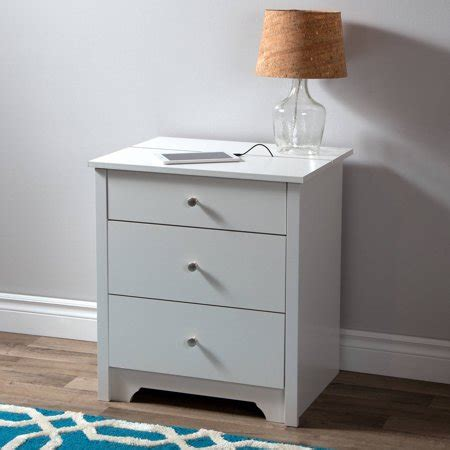 charging station nightstand south shore vito nightstand with charging station and