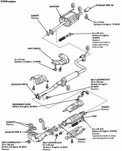 I Have A Honda Civic Coupe I 6 Sport And There Is A Leak In The Exhaust  Just Before The The