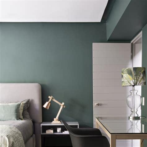 chambre mur vert déco chambre vert amande