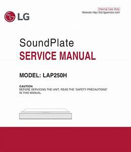 Lg Lap250h Soundplate System Original Service Manual And